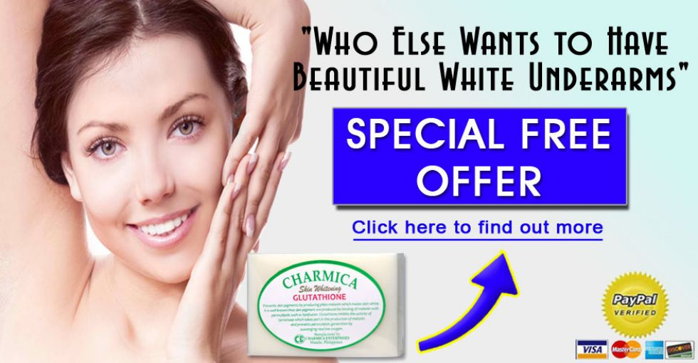 Skin Whitening Gluatathione Bar Soap Whitens Dark Underarms Leaving Smooth White Skin