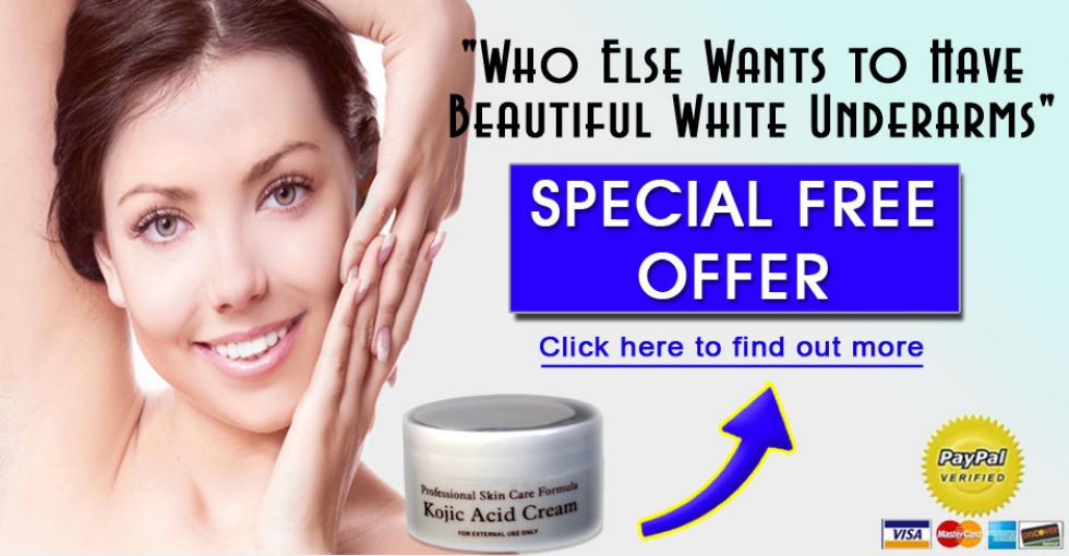 Kojic Acid CreamWhitens Dark Underarms and Best Moisturizer for the Skin